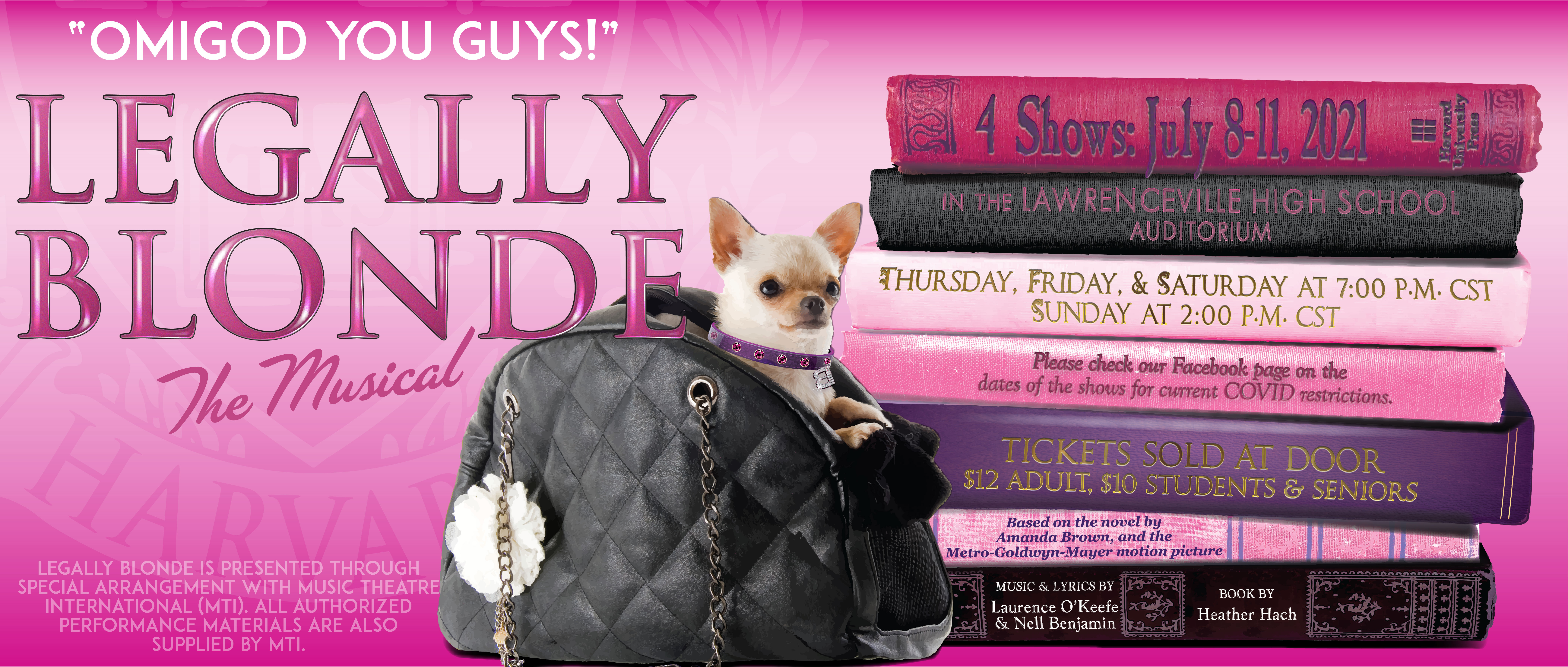 Legally Blonde the Musical Show Banner