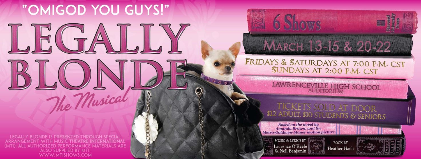 Legally Blonde the Musical Banner
